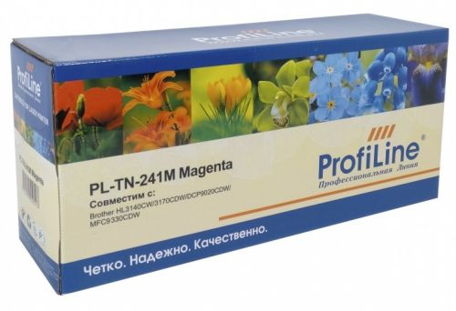 Картридж ProfiLine PL-TN-241M для принтеров Brother HL3140CW/3170СDW/DCP9020CDW/MFC9330CDW 1400 копий ProfiLine картридж profiline для hl3140cw 3170cdw dcp9020cdw mfc9330cdw pl tn 241bk