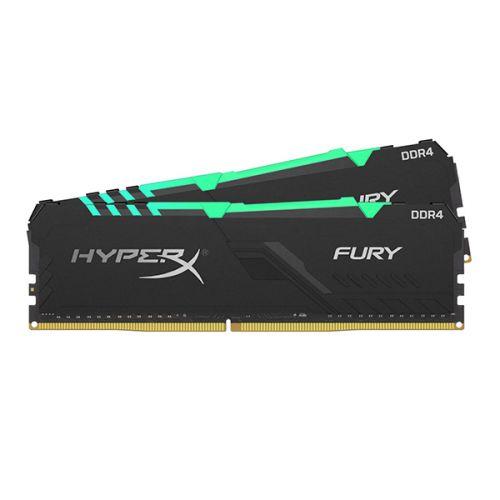Модуль памяти DDR4 32GB (2*16GB) HyperX HX437C19FB3AK2/32 Fury RGB PC4-30000 3733MHz CL19 XMP радиатор 1.35V