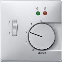 Накладка Schneider Electric MTN537560 Merten SD регулятора тёплого пола с выключателем, термопласт, IP20 (алюминий)
