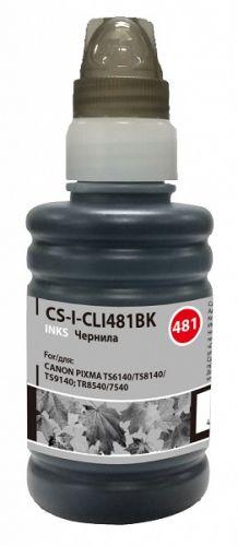 Чернила для заправки Cactus CS-I-CLI481BK черный 100мл для Canon Pixma TR7540/TR8540/TS6140/TS8140/TS9140
