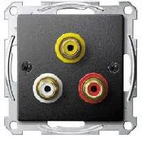 Розетка Schneider Electric MTN4351-0414 Merten аудио/видео RCA, IP20 (антрацит)