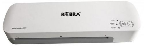 Ламинатор Kobra Queenlam 125 T А4, горячее и холодное ламинирование, 75-125 мкм, 2 вала, 420 мм/мин, толщина 0,6мм, мощность 400 Вт, разжим валов, быс