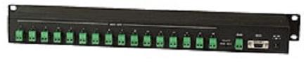 Распределитель SC&T RS016 последовательный данных 1 вход RS485 под клеммы или RS232, 16 выходов RS485 под клеммы, макс.расстояние подключения до 1200м
