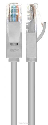 Фото - Кабель патч-корд UTP 5e кат. 0.15м. GCR GCR-LNC03-0.15m ,RJ45, литой (Серый) кабель патч корд utp 5e кат 20м gcr gcr lnc03 20 0m rj45 литой серый