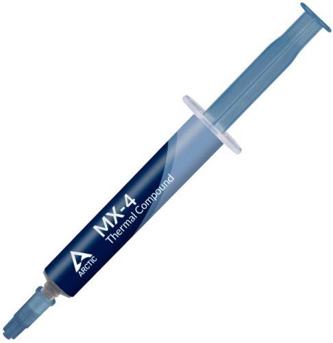 Термопаста ARCTIC MX-4 ACTCP00031B 4гр, шприц, теплопроводность 8.5 Вт/мК, вязкость 870 пуаз, плотность 2.5 г/см³