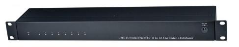 Распределитель SC&T CD816HD HDCVI/HDTVI/AHD/CVBS (8вх./16вых.). Поддержка NTSC, PAL. Встроенная защита от скачков напряжения (TVS)