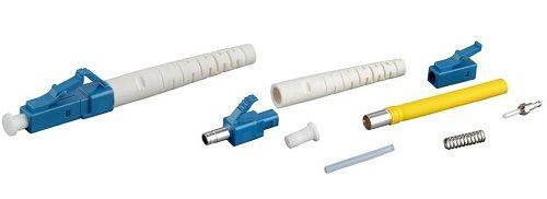 Разъем Hyperline LC-SM-3 клеевой LC, SM(для одномодового кабеля), 3 мм, (белый)