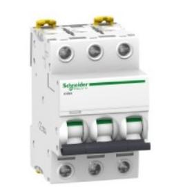 Автоматический выключатель Schneider Electric A9F79325 3P 25A (C)(серия Acti 9 iC60N) автоматический выключатель schneider electric ez9f34425 easy 9 4p 25a c