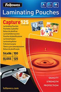 Пленка Fellowes FS-53063 125 мкм, Credit Card (54х86 мм), 100 шт., глянцевая