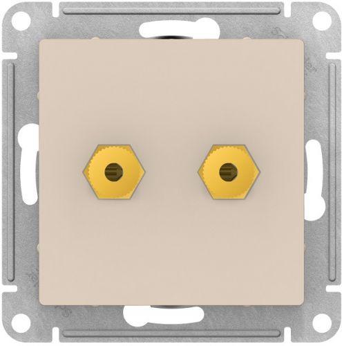 Розетка Schneider Electric ATN000287 AtlasDesign, аудио, двухместная, бежевая