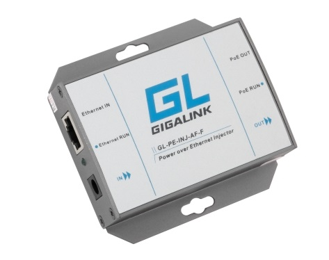 Адаптер PoE GIGALINK GL-PE-INJ-AF-G инжектор, 1Гбит/с, 802.3af