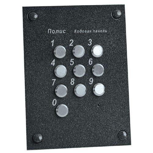 Панель Витек Полис-52 кодовая врезная, два кода до 12 знаков, 12 В, 100х84х17 мм