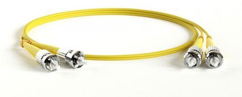 Кабель патч-корд волоконно-оптический TWT TWT-2ST-2ST/SU-3.0 PVC, дуплексный, ST/UPC-ST/UPC, SM OS2, 3.0 м
