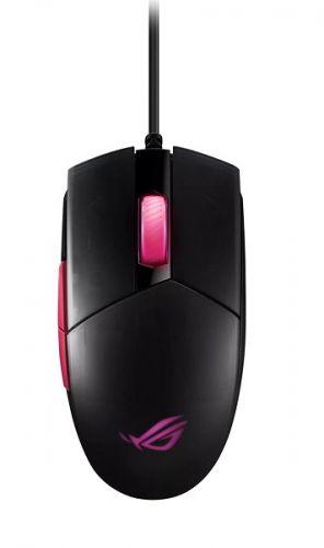 Фото - Мышь ASUS ROG Strix Impact II Electro Punk 90MP01U0-BMUA00 8 кнопок, 6200 dpi, Omron, Black, USB, RGB подсветка мышь игровая redragon invader rgb 8 кнопок 10000 dpi 78332