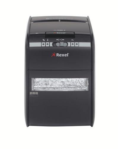 Уничтожитель бумаг Rexel Auto+ 90X 2103080EUA секр.P-3, фрагменты/90л/20лтр., скрепки/скобы/плкарты