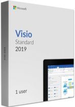 Microsoft Visio Std 2019 32/64 Russian Central/Eastern Euro Only EM DVD