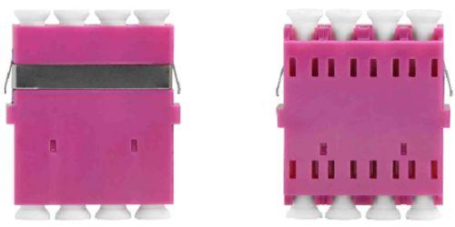 Адаптер проходной TELCORD AD-LC/MM-Q-MG оптический, quadro LC/MM, корпус маджента