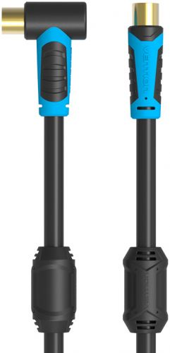 Кабель антенный Vention VAV-A02-B200 male-male, угловой, 2м