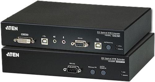 Удлинитель Aten CE680-AT-G KVM USB, DVI-D+AUDIO+RS232, 600 м., оптич.волокно одномод./singlemode 1310/1550нм, DVI-D+2xMINIJACK+DB9+LС+2xUSB А-Тип+2xUS