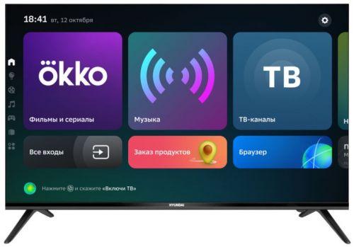 Телевизор Hyundai H-LED43FU7004 черный/Ultra HD/60Hz/DVB-T/DVB-T2/DVB-C/DVB-S/DVB-S2/USB/WiFi/Smart TV newest hd t2 tv tuner dvb t2 c digital tv receiver support wifi dvb t2 dvb c set top box h 264 receptor