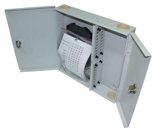 Бокс настенный Vimcom НКРУ-A24-LC AD-LC-SM+PT-SM-LC-1 24 порта, SM (9/125), LC, (пигтейлы + проходные адаптеры)