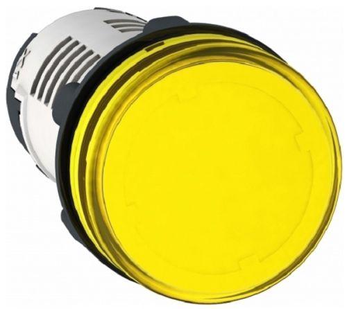 Лампа Schneider Electric XB7EV05MP сигнальная жёлтая светодиодная 230В