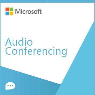 ПО по подписке (электронно) Microsoft Audio Conferencing Corporate Addon (оплата за месяц)