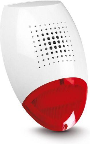 Оповещатель SATEL SD-3001 R светозвуковой, внешний, красный, процессорное управление, акустическая сигнализация