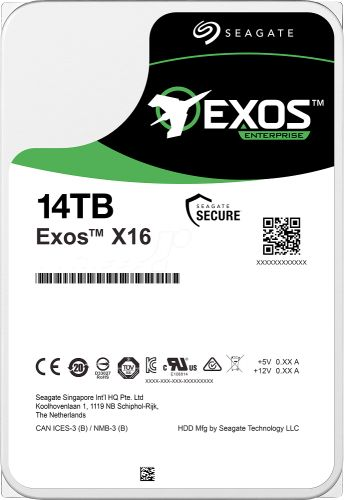 "Жесткий диск 14TB SAS 12Gb/s Seagate ST14000NM002G 3.5"" Exos X16 7200rpm 256MB  - купить со скидкой"