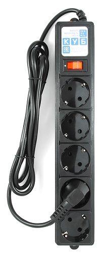 Фото - Сетевой фильтр Power Cube B 3 м, 5 розеток черный сетевой фильтр power cube spg b 10 5 розеток 3 м белый
