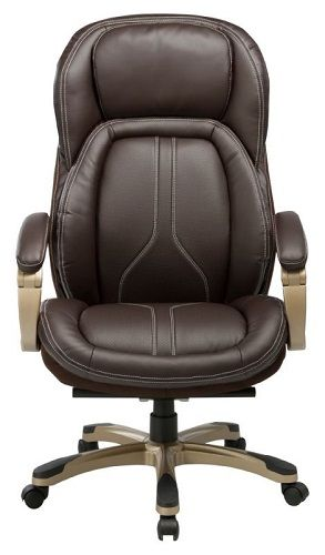 Кресло Бюрократ T-9919 коричневое, рец.кожа/кожзам