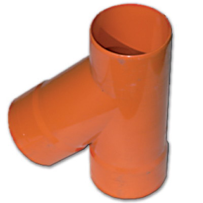Тройник DKC 019090 для двустенных труб, 45град., полипропилен, д.90