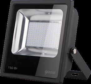 Прожектор Gauss 613100150 LED Qplus 150W 14000lm IP65 5500К черный