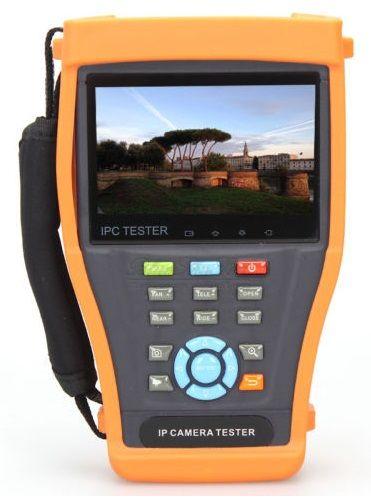Тестер Tezter TIP-H-4,3(ver.2) универсальный монитор-тестер AHD/CVI/TVI/CVBS и IP-видеосистем. (Базовая модель). Возможности: Поддержка ONVIF; 5Mp TVI