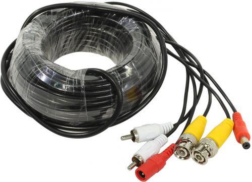 Кабель ORIENT CVAP-30 для камер видеонаблюдения, видео BNC + аудио RCA + питание, 30 м, в пакете