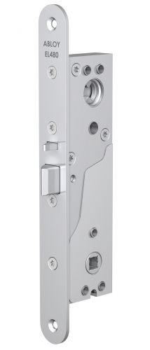 Замок Abloy EL480 (35/25) эл-мех соленоидный, для профильных дверей, выход с управлением от ручки, режимы НО/НЗ, 12-24VDC, 0,35Amax