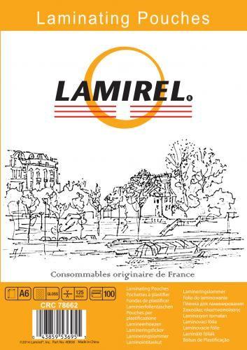 Пленка Fellowes LA-78662 для ламинирования Lamirel А6, 125мкм, 100шт