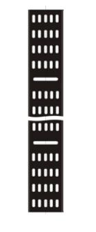 Лоток TWT TWT-CB-CTR-18U-2 вертикальный кабельный для шкафов 18U, шириной 200 мм, черный тестер кабельный lanmaster twt tst 200