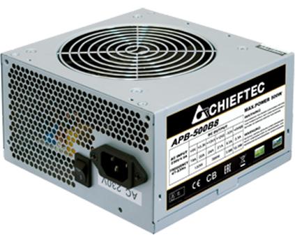 Chieftec Блок питания ATX Chieftec APB-500B8 500W aPFC, 120mm FAN, КПД 80+, OEM