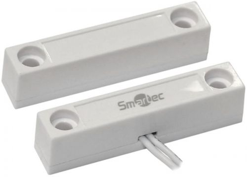Датчик Smartec ST-DM122NO-WT магнитоконтактный, НР, 50Вт 220 В АС, балластное сопротивление 20 кОм, накладной для деревянных дверей, зазор 25 мм, белы