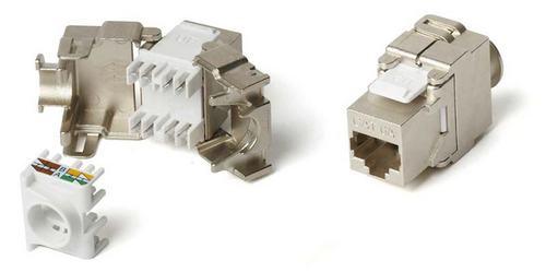 Hyperline KJ2-8P8C-C6A-180-SH-F-WH