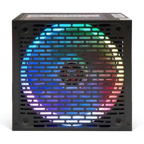 Блок питания ATX HIPER HPB-600RGB 600W, ActivePFC, RGB 140mm fan, black, BOX блок питания hiper hpb 550rgb 550w black