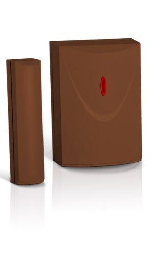 Извещатель SATEL AMD-103 BR магнитоконтактный беспроводный малогабаритный (корпус коричневый), светодиод для сигнализации нарушения в тестовом режиме,