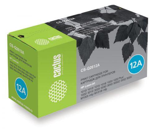 Картридж Cactus CS-Q2612A для принтеров HP Laser Jet 1010/ 1012/ 1015/ 1018/ 1020/ 1020 Plus/ 1022/ 3015/ 3020/ 3030/ 3050/ 3050Z/ 3052/ 3055/ M1005 m