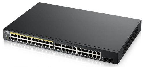 Коммутатор ZYXEL GS1900-48HPv2 Smart L2 PoE+, rack 19, 48xGE (24xPoE+), 2xSFP, бюджет PoE 170 Вт