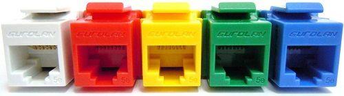 Модуль Eurolan 16B-U6-03BU розеточный Keystone категории 6, UTP, 1xRJ45, T568A/B, синий