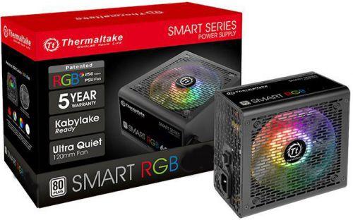 Блок питания ATX Thermaltake Smart RGB 500W PS-SPR-0500NHSAWE-1 aPFC, 120mm FAN, КПД 80+, Ret