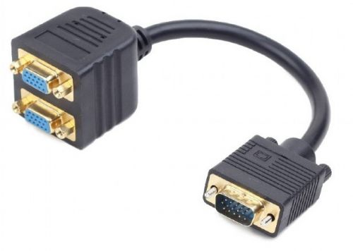 Разветвитель Cablexpert CC-VGAX2-20CM VGA, 1 компьютер - 2 монитора компьютер