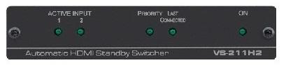 Коммутатор Kramer VS-211H2 20-80353090 2х1 HDMI с автоматическим переключением, коммутация по наличию сигнала, поддержка 4K60 4:4:4