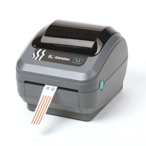 Термопринтер Zebra GX42 GX42-202421-000 DT Printer GX420d; 203dpi, USB, Serial, Ethernet, Dispenser (Peeler)